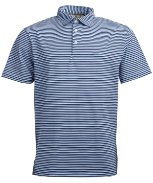 Men's Barbour Performance Stripe 2 Polo Shirt - Blue Shadow