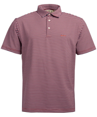 Men's Barbour Performance Stripe 2 Polo Shirt - Pink