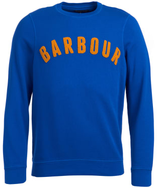 Men's Barbour Prep Logo Crew Sweater - Bright Blue