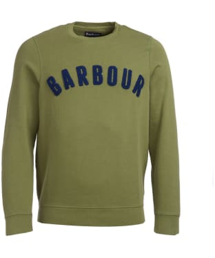 Men's Barbour Prep Logo Crew Sweater - Burnt Olive