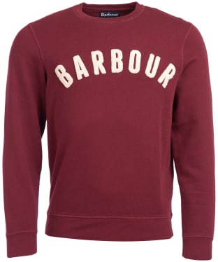 Men's Barbour Prep Logo Crew Sweater - Ruby