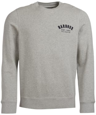 Men's Barbour Preppy Crew Sweatshirt - Grey Marl