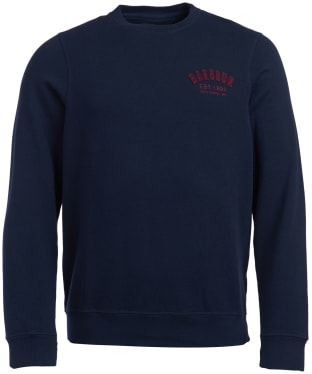 Men's Barbour Preppy Crew Sweatshirt - Navy