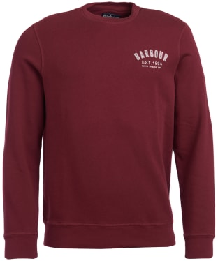 Men's Barbour Preppy Crew Sweatshirt - Ruby