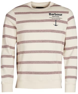 Men's Barbour Offstore Crew Neck Sweatshirt - Ecru