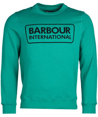 Men's Barbour International Large Logo Sweater - Zest Green