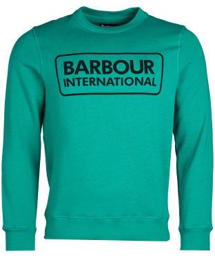 Men's Barbour International Large Logo Sweatshirt - Zest Green