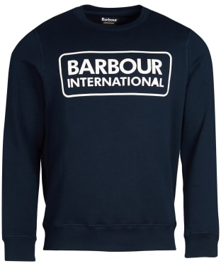 Men's Barbour International Large Logo Sweater - Navy