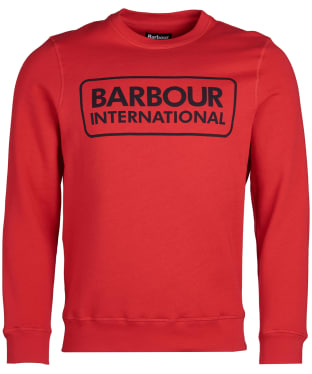 Men's Barbour International Large Logo Sweater - Vibrant Red