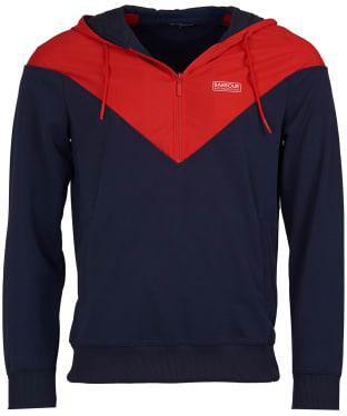 Men's Barbour International Chevron Hooded Sweatshirt - Navy