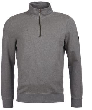 Men's Barbour International Brayton Half Zip Sweater - Anthracite Marl