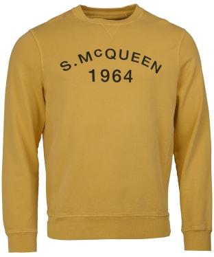 Men's Barbour Steve McQueen Vintage Crew Sweatshirt - Washed Yellow