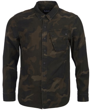 Men's Barbour International Camo Overshirt - Dark Olive