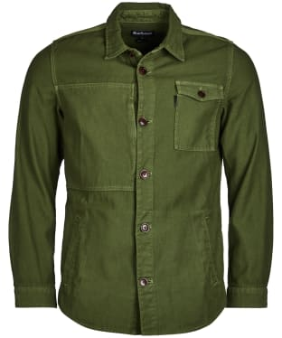 Men's Barbour Seaton Overshirt - Burnt Olive