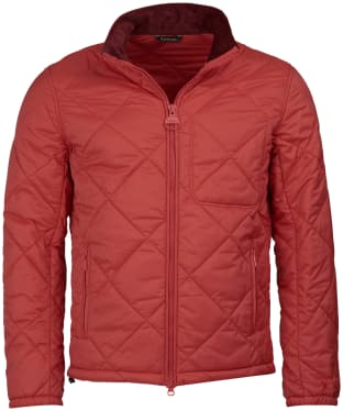 Men's Barbour Steve McQueen Acadia Quilted Jacket - Washed Red