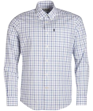Men's Barbour Tattersall 4 Tailored Shirt - Mid Blue