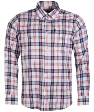 bdfb5fb550 Men's Barbour Oxford Check 3 Tailored Shirt - Rich Red Check