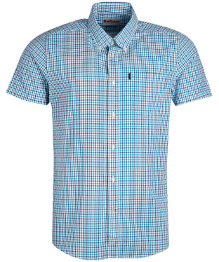 Men's Barbour Seersucker 1 S/S Tailored Shirt - Teal