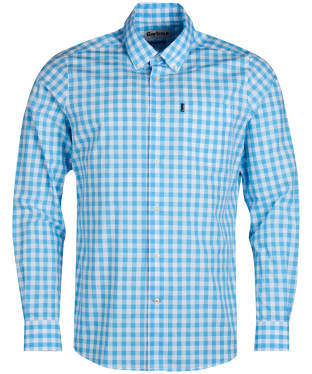 Men's Barbour Gingham 3 Tailored Shirt - Pale Blue
