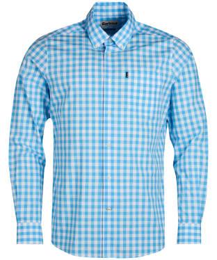 Men's Barbour Gingham 3 Tailored Shirt - Pale Blue