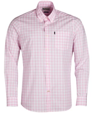 Men's Barbour Gingham 3 Tailored Shirt - Pink