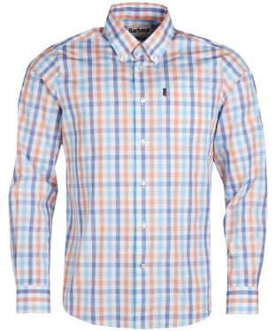 Men's Barbour Tattersall 2 Tailored Shirt - Orange
