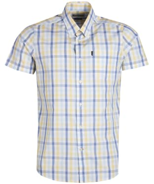Men's Barbour Tattersall 2 S/S Tailored Shirt - Lemon