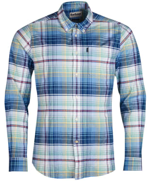 Men's Barbour Oxford Check 2 Tailored Shirt - Mint