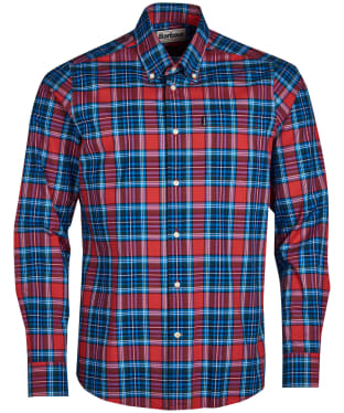 Men's Barbour Highland 6 Tailored Shirt - Red