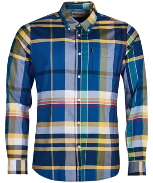 Men's Barbour Highland 2 Tailored Shirt - Mid Blue