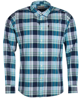 Men's Barbour Madras 1 Tailored Shirt - Navy