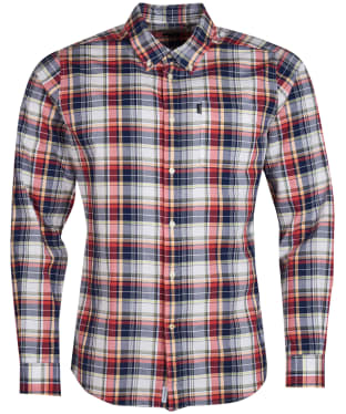 Men's Barbour Madras 1 Tailored Shirt - Pink