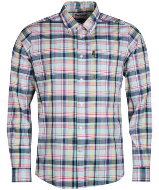 Men's Barbour Madras 1 Tailored Shirt - Lemon
