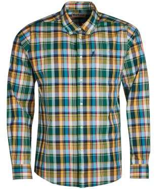 Men's Barbour Madras 2 Tailored Shirt - Green