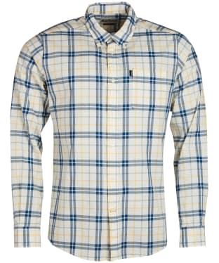 Men's Barbour Madras 2 Tailored Shirt - Whisper White