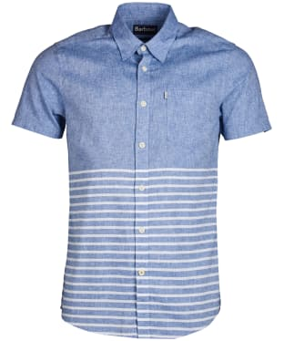 Men's Barbour Rowlock Short Sleeve Shirt - Admiral Blue