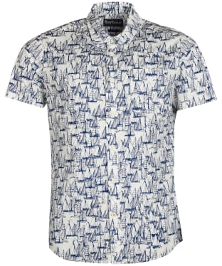 Men's Barbour Boat Short Sleeve Shirt - Ecru