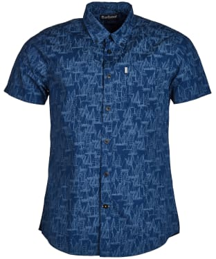 Men's Barbour Boat Short Sleeve Shirt - Inky Blue