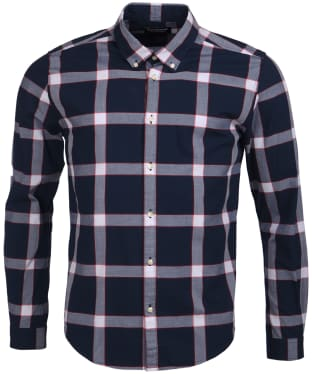 Men's Barbour International Valve Check Shirt - Navy