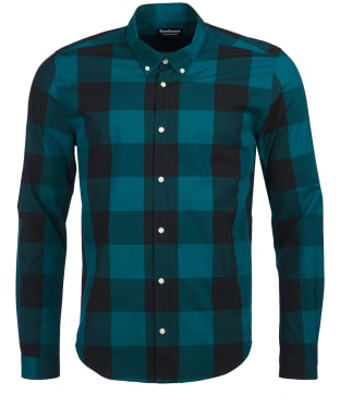 Men's Barbour International Bold Gingham Shirt - Green