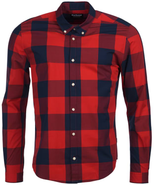 Men's Barbour International Bold Gingham Shirt - Pillar Box Red