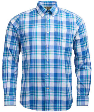Men's Barbour Minster Performance Shirt - Aqua