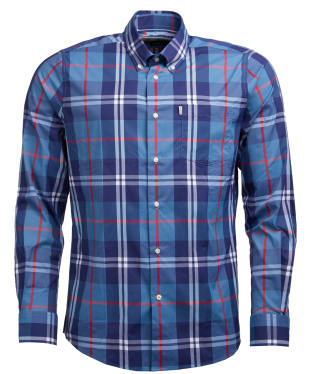 Men's Barbour Batley Performance Shirt - Rich Red