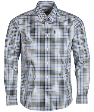 Men's Barbour Tattersall 3 Tailored Shirt - Forest