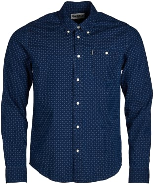 Men's Barbour Indigo 1 Slim Fit Shirt - Indigo