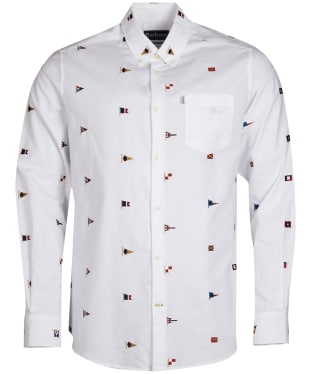 Men's Barbour Oxford Flag Shirt - White