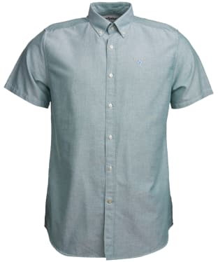 Men's Barbour Oxford 3 Short Sleeved Tailored Shirt - Green