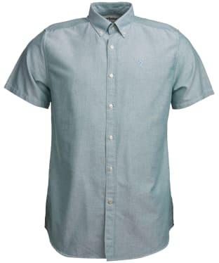 Men's Barbour Oxford 3 Short Sleeved Tailored Shirt - Green