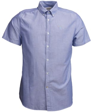 Men's Barbour Oxford 3 Short Sleeved Tailored Shirt - Indigo