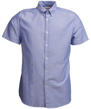 Men's Barbour Oxford 3 Short Sleeved Tailored Shirt - Indigo